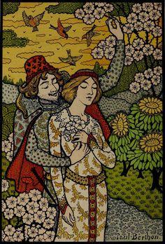 paul berthon | Paul Berthon Romantic Illustration circa 1895