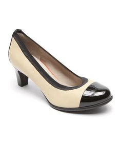 Look what I found on #zulily! Tan & Black Melora Gore Captoe Leather Pump - Women #zulilyfinds