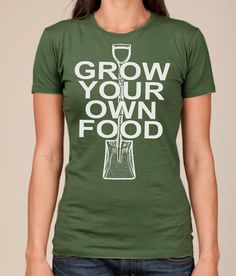 Women's Tshirt GROW YOUR Own FOOD Farmer's Market by happyfamily, $18.00