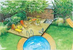 Sitzplatz mit Pool