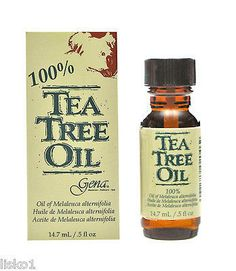GENA TEA TREE OIL NAIL TREATMENT , MILD ANTISEPTIC, SOOTHS & CLEANS _ 1/2 OZ.