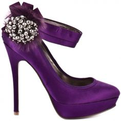 Shoe I found on Chiq.com.  LOVE the purple and the embellishment!