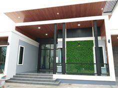 บ้านชั้นเดียวสวยหลังใหญ่ 4 ห้องนอน 3 ห้องน้ำ ออกแบบสไตล์โมเดิร์น | ดูไอเดียบ้าน New Model House, Model House Plan, One Storey House, House Plans Mansion, Bungalow House Design, News Design, Facade, Pergola, Cool Designs