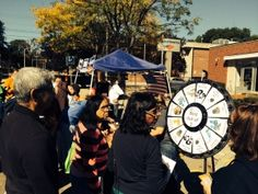 Over 200 prizes won during our Prize Wheel Trivia Game at the 2014 Franklin, MA Harvest Festival! Buy this Prize Wheel at http://PrizeWheel.com/products/floor-prize-wheels/floor-and-table-prize-wheel-12-24-slot-adaptable/.