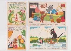 """5 Reclameboekjes Prima Jam N.V. Maatschappij """"De Betuwe"""" Tiel - Ted en Mies nr. 1, 4, 5, 6 en 8 serie 32 - 1897-1953 - Catawiki"""