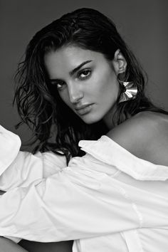 FLOUNCE earring by Sara Robertsson, photo & styling by Ana Suntay-Tañedo, model Gabrielle Caunesil, mu by Keli Stack.