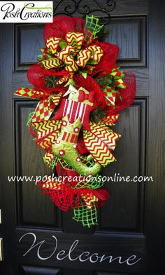 swags wreaths christmas | Items similar to Christmas Wreath, Door Decor,Vertical Swag, Door Swag ...