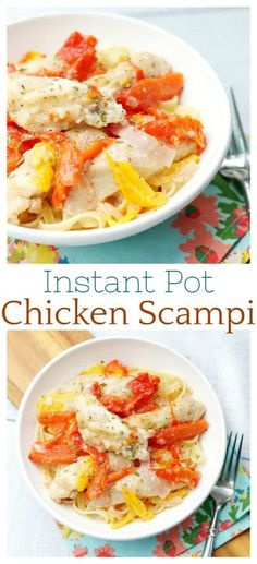 instant pot chicken scampi is a delicious restaurant quality meal made in at home