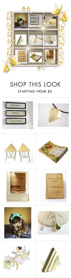 """Relax-Soak-Unwind"" by anna-recycle ❤ liked on Polyvore featuring modern, rustic and vintage"