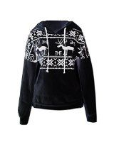 Towallmark(TM)Fashion Europe Womens Ethnic Print Blouse Hoodie Sweat Sweatshirt  towallmark
