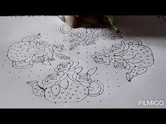 Small Rangoli Design, Rangoli Kolam Designs, Rangoli Designs With Dots, Rangoli Designs Images, Rangoli With Dots, Dot Rangoli, Indian Rangoli, Birthday Cake With Candles, Durga Maa