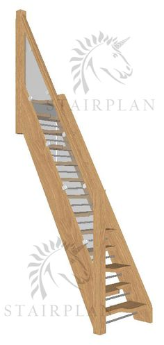 Stairplan,s New European Handrail style for the Beech 40 Spacesaver Stair Glass Stair Balustrade, Oak Handrail, Stair Treads, Space Saver Staircase, Loft Staircase, Oak Stairs, Glass Stairs, Staircase Manufacturers, Toilet Cubicle