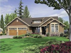 Elegant Craftsman Ranch House Plans with Walkout Basement