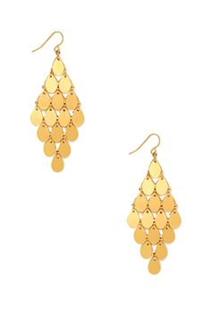 Coin Fringe Chandelier Earrings | FOREVER21 - 1000067576