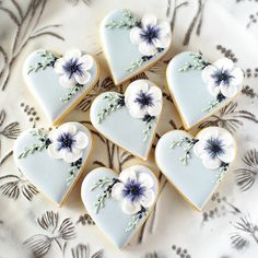 Cookies and Books: Blueberry Hearts.. Beautiful Sugar cookies