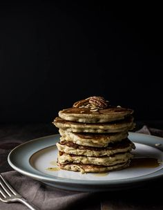 Gluten-Free Oatmeal Nut Pancakes - Salted Plains