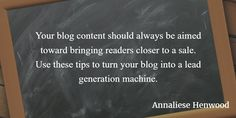 Quote from blog lead generation article