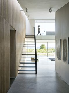 Tour a Stunning Beach Villa in Denmark - Nordic Design New York Architecture, Interior Architecture, Stairs Architecture, Interior Design Studio, Interior Styling, The Way Home, Home And Family, Monuments, Floating Stairs