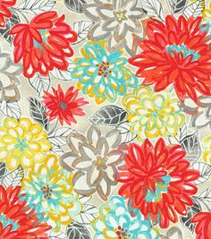 THIS LOOKS LIKE FUN FABRIC FOR RECOVERING THE CHAIRS FOR EAT IN DININGP/K Lifestyles Upholstery Fabric-Clayton Scarlet Lake