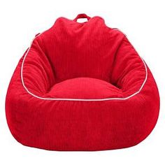 XL Corduroy Bean Bag Chair - Stoplight Red - Pillowfort™ : Target