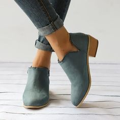 Buy women's shoes for women at justfashionnow. Online shopping women ankle booties casual slip on comfort plus size shoes. E best daily women's shoes. Discover unique designers fashion at. Short Ankle Boots, Ankle Booties, Black Booties, Heel Boots, Ankle Boots With Jeans, Black Heels, Ugg Boots, Casual Heels, Casual Boots