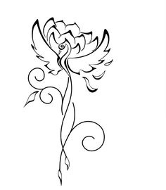 almost perfect! I would probably add more tail flourishes ~ Phoenix Lotus Tattoo Sample