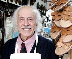 """STAVROS MELISSINOS, """"THE POET SANDAL-MAKER OF ATHENS"""" ... A friend of mine got his sandals while we were in Athens."""