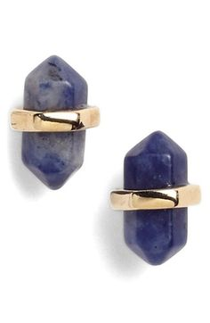 Beautiful stone stud earrings