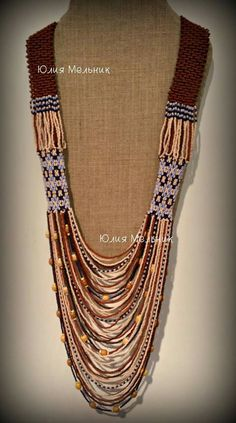 Seed Bead Jewelry, Beaded Jewelry, Handmade Jewelry, Beaded Necklace, Bead Loom Patterns, Beading Patterns, Wedding Embroidery, Embroidered Clothes, Loom Beading
