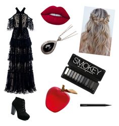 """""""Evil Queens daughter"""" by kaytlynhunter ❤ liked on Polyvore featuring beauty, Needle & Thread, Lois Hill, Daum and MAC Cosmetics"""