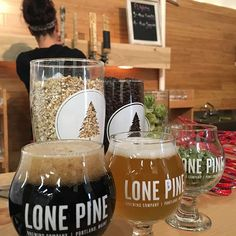 A visit to #yeastbayside and @lonepinebrewing to try their #saison and the @northsporemushrooms collab (because we already know their Portland Pale rocks!) - Time deliciously spent!  #drinklocal #lonepinebrewing #madeinmaine