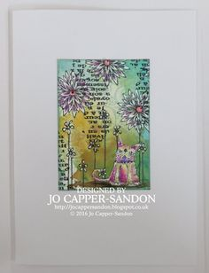 Artwork created by Jo Capper-Sandon using rubber stamps designed by Daniel Torrente for Stampotique Originals