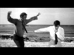 "One of the greatest scenes from one of the best movies ever made.  Anthony Quinn and Alan Bates. ""Zorba The Greek"""