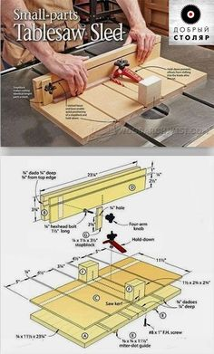 Table Saw Crosscut Sled Plans - 10 Table Saw Crosscut Sled Plans , Small Parts Table Saw Sled Plans Table Saw Tips Jigs and