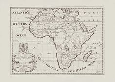 ANTIQUE AFRICA MAP Map of Africa Vintage by EncorePrintSociety