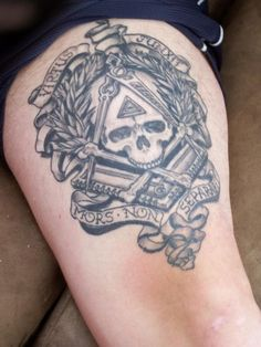 freemason tattoos | Masonic Piece Rockabilly Tattoos Lauderhill Fl 2006 In My By