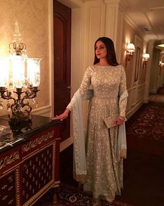 Sri Devi Kapoor In A Beautiful Embroidered Anarkali .For Detail drop a mail at contact@ladyselection.com