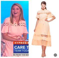 Jenna Bush Hager, Hoda Kotb, Lazer Cut, Today Show, Flutter Sleeve, Summer Dresses, Lace, Pink, Women