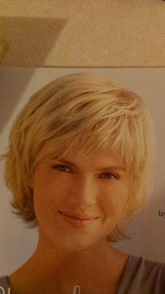 Cute short hair style.