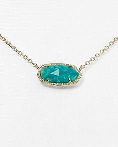 "Kendra Scott Elisa Amazonite Necklace, 15"" | Bloomingdale's"