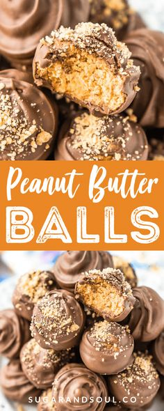 Peanut Butter Balls are a classic no-bake treat made with grahamcrackers, creamy peanut butter, powdered sugar, and chocolate! Perfect for the holidays!