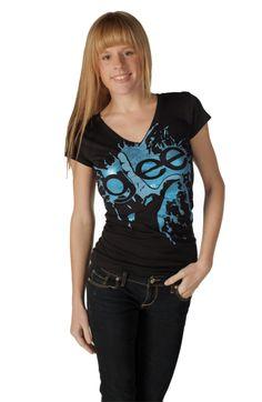 Glee Finger Splat Foil Highlights Black V-Neck Juniors T-shirt $19.95 #tvstoreonlinewishlist