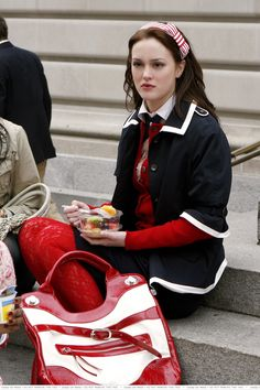 Blair Waldorf in her red white and blue