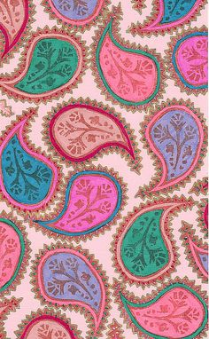 is Paisley prints has pretty pops of color that work well together Textiles, Textile Patterns, Textile Design, Fabric Design, Print Patterns, Motif Paisley, Paisley Art, Paisley Design, Paisley Fabric