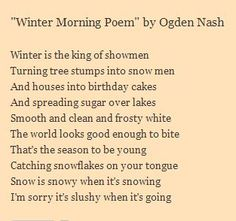 ogden nash an amazing poet essay To a poet on modern poetry serves as both a guidebook and a wonderful example of what makes poetics an amazing art  which will be analyzed in this essay.