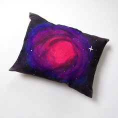 """39 DIY Gifts You'd Actually Want To Receive. Like this """"Nebula Pillow."""" Or how about a do-it-yourself terrarium, or a geode ring, or a shark hoodie towel? Or 35 others."""