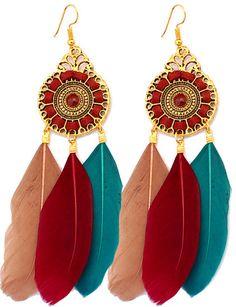 https://www.goedkopesieraden.net/Vintage-gouden-oorbellen-met-gekleurde-veren