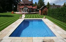 Swimming Pool Landscaping: No swimming pool is complete without the surrounding areas being landscaped in keeping with the swimming pool itself. Swimming Pool Landscaping, Swimming Pools, Swimming Pool Maintenance, Pool Enclosures, Landscape, Outdoor Decor, Swiming Pool, Pools, Swimming Pool Decks