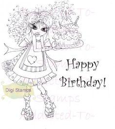 Digi Stamps Happy Birthday  By Sherri Baldy Big Eye Art