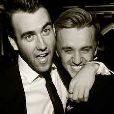 My boys!  Matthew Lewis and Tom Felton  or better known as Neville Longbottom and Draco Malfoy. HP